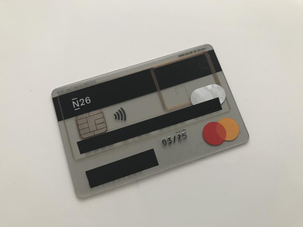 Konto bankowe N26 - Karta debetowa